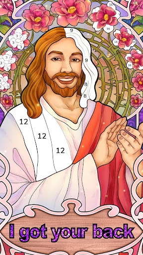 Bible Coloring – Paint by Number Free Bible Games 1