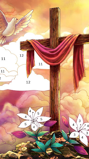 Bible Coloring – Paint by Number Free Bible Games 2