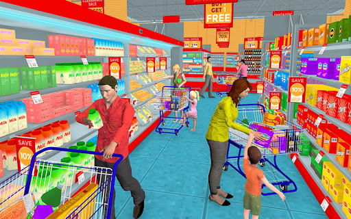 Supermarket Grocery Shopping Mall Family Game 1