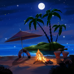 Tropical Beach at Night Live Wallpaper Apps on Google Play